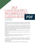 Unidad 4 Capacitación y Desarrollo Del Capital Humano
