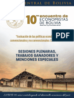 Compendio 10 Encuentro Economistas Bolivia