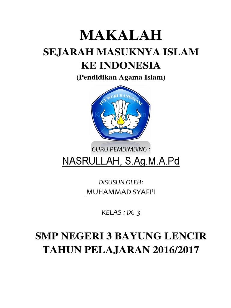 Makalah Perkembangan Islam Di Nusantara Jadi