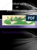 Individual Aging vs Population Aging