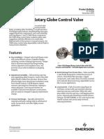 Product Bulletin Fisher v500 Rotary Control Valve en 122382