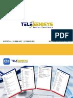 Telegenisys Medical Summary Examples.pptx