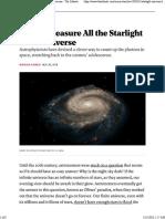 Measuing Starlight