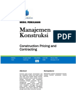 Modul 9 Construction Pricing and Contracting.docx
