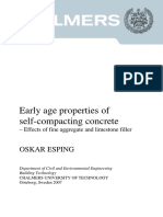 Early Age Properties of Self-compacting Concrete – Effects of Fine Aggregate and Limestone Filler----Thesis