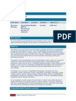 Freelance Venue Staff Role Profile