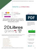 links de  Descarga Gratis 20 Cuentos Infantiles en PDF Para Leer a Nuestros Hijos - Ortografía & Literatura