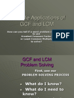 Real Life Applications OfGCF and LCM (1)