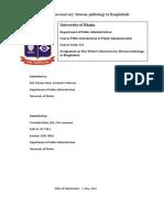 Max Weber's Bureaucracy Bureaupathology in Bangladesh Editing