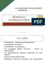 Module 1- Globalization
