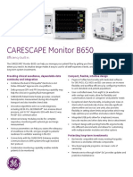 GE Monitor B650 Data Sheet En