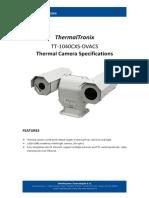 ThermalTronix TT 1040CXS DVACS Datasheet - SECURITY SYSTEMS