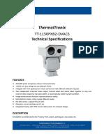 ThermalTronix TT 1150PXB2 DVACS Datasheet - SECURITY SYSTEMS