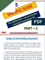 PPT Presentation for ISO 22000 auditor training