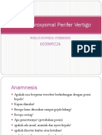 Benign Paroxysmal Perifer Vertigo