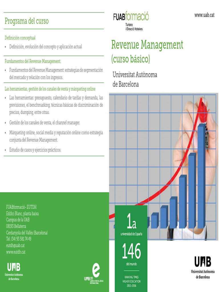 Calendario Uab.Revenue Management Cast