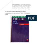 Anthony de Mello Testigo de La Luz