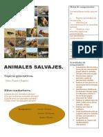 afiche animales salvajes