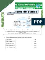Ficha Ejercicios de Sumas Para Tercero de Primaria