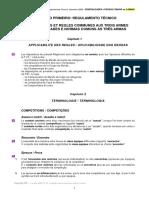 Regulamento para as Provas da FIE, Regulamento Técnico - Dez2009