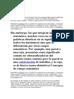 Vocabulario Campo Semántico