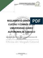 061015_REGLAMENTO_GENERAL_DE_CUOTAS_Y_COBROS_DE_LA_UJAT.pdf