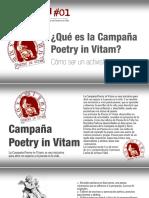 Campaña Poetry in Vitam | Pon un Poema en tu Vida