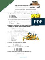 Evaluación Tractor d8t