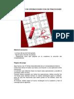 Puzzle Operaciones Fracciones