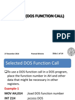 INT 21H - DOS Function Call