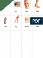 Flashcards Body Pinyin