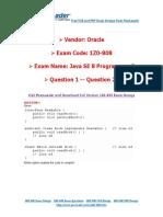 PassLeader 1Z0-808 Exam Dumps (1-20)