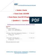PassLeader 1Z0-808 Exam Dumps (1-20)