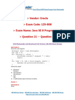 PassLeader 1Z0-808 Exam Dumps (21-40)