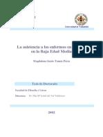 La Asistencia a Los Enfermos en Castilla en La Baja Edad Media 0