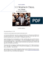 OJ simpson trial is staged?