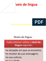 Níveis de Língua