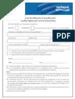 SEDAPAL Formulario Se Afiliacion y Desafiliacion - Corregido