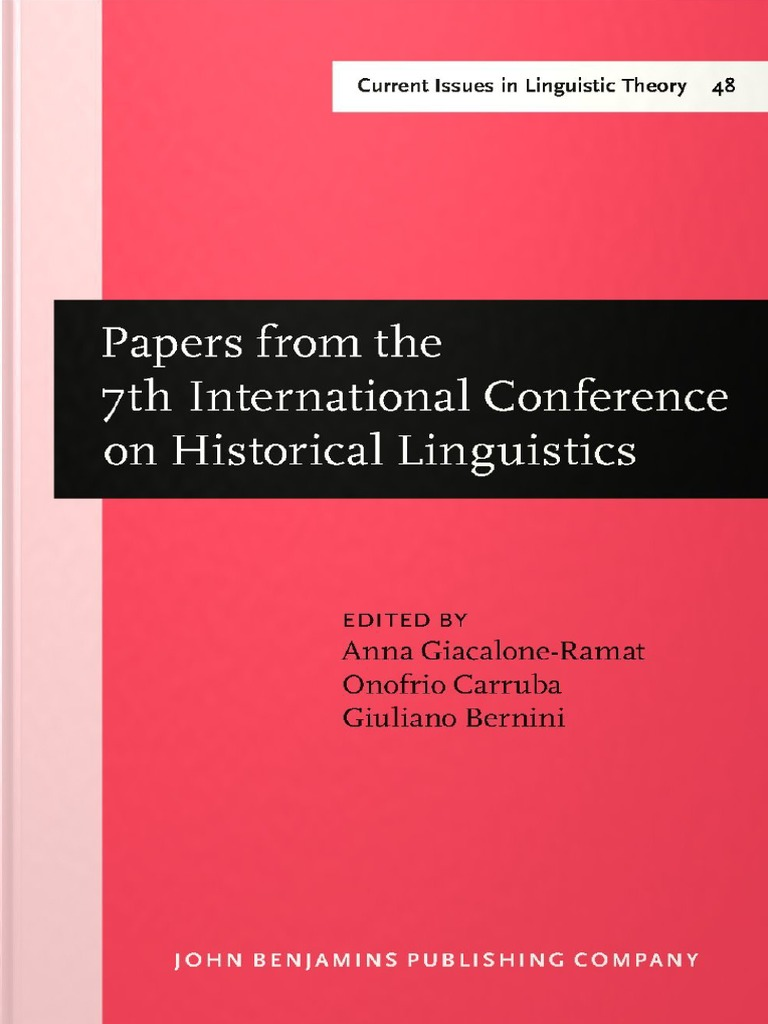 Current Issues in Linguistic Theory 48) Anna Giacalone Ramat
