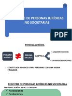 Registro de Personas Jurídicas no societarias