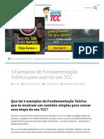 3 Exemplos de Fundamentação Teórica Para o Seu TCC