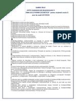 SUBIECTE Examen Oral Biofarm