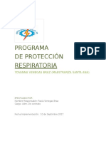 Manual Programa de Proteccion Respiratoria v1
