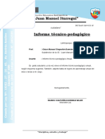 Informe Tecnico Pedagogico - FINDE AÑO