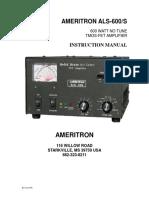ALS-600-S Manual Revision 6b