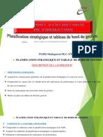 Planification Stratégique et Tableau de Bord de Gestion