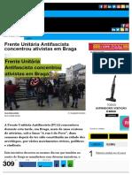 Frente Unitária Antifascista Concentrou Ativistas Em Braga
