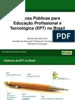 Politicas Publicas Para a Educacao Profissional e Tecnologica_MEC 2015