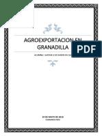 Exportacion en Granadilla