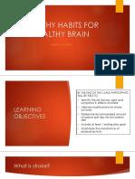 healthy habits for healthy brain